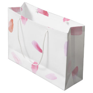 Romantic Rose Petals Large Gift Bag