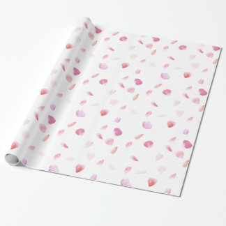 Romantic Rose Petals Wrapping Paper