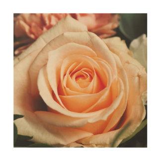 Romantic Rose Pink Rose Wood Wall Decor
