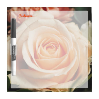 Romantic Rose Pink Roses Floral Flower Dry Erase Board