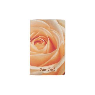 Romantic Rose Pink Roses Floral Flower Pocket Moleskine Notebook