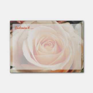 Romantic Rose Pink Roses Floral Flower Post-it Notes