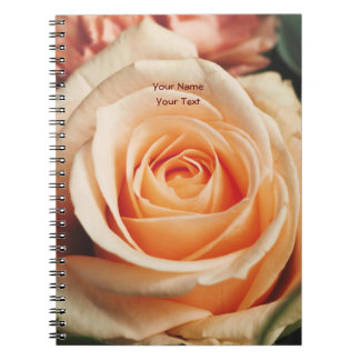 Romantic Rose Pink Roses Floral Flower Spiral Note Book