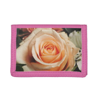 Romantic Rose Pink Roses Spring Flower Floral Trifold Wallet