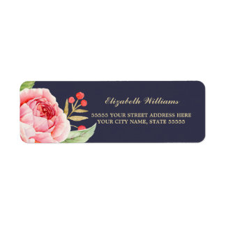 Romantic Rose Return Address Labels