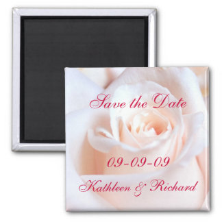Romantic Rose Save the Date Wedding Magnet
