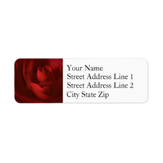 Romantic Rose Wedding Correspondence Return Address Label