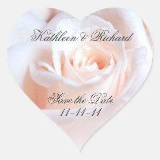 Romantic Rose Wedding Heart-shaped Labels Heart Sticker