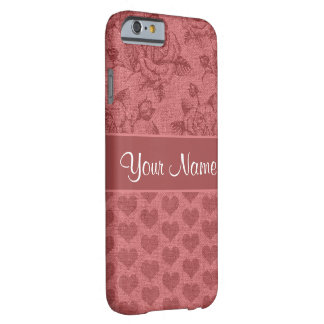 Romantic Roses and Hearts Canvas Effect Barely There iPhone 6 Case