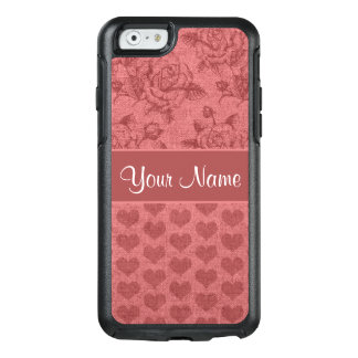 Romantic Roses and Hearts Canvas Effect OtterBox iPhone 6/6s Case