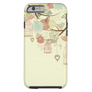 Romantic Roses, birds, birdcages, Floral Vintage Tough iPhone 6 Case