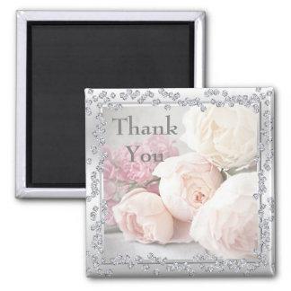 Romantic Roses & Diamonds Thank You Magnet