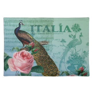 Romantic Roses Musical Peacock Placemats