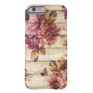 Romantic Rustic Roses on Wooden wall iPhone case