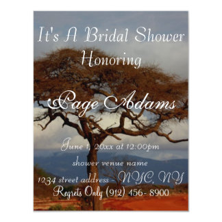 Romantic Safari Africa Bridal Shower Card