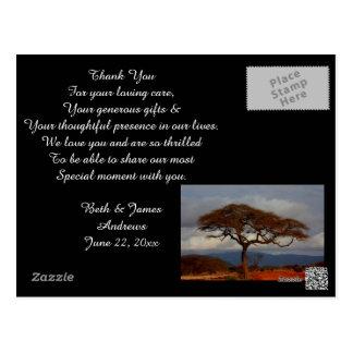 Romantic Safari Africa Bridal Thank You Cards