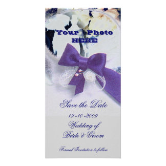 Romantic Save the Date Personalised Photo Card