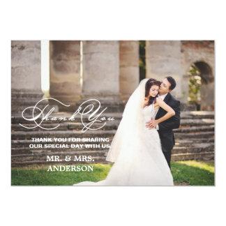 ROMANTIC SCRIPT   WEDDING THANK YOU PHOTO CARD
