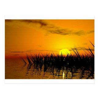 Romantic seashore postcard