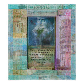 Romantic Shakespeare quote from Romeo and Juliet. Posters