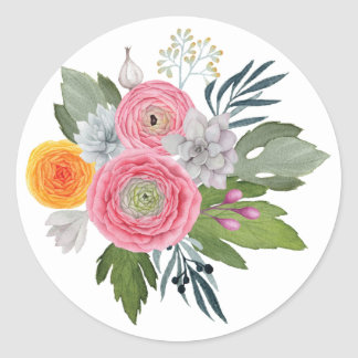 Romantic Southwest Wedding Sticker