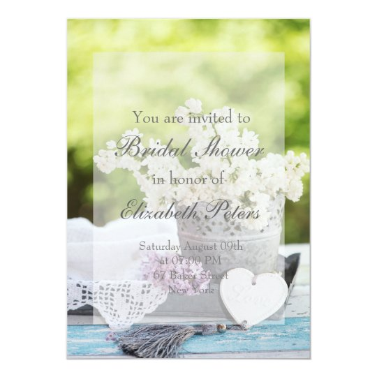Romantic Spring Flower Floral Lilac Bridal Shower Card