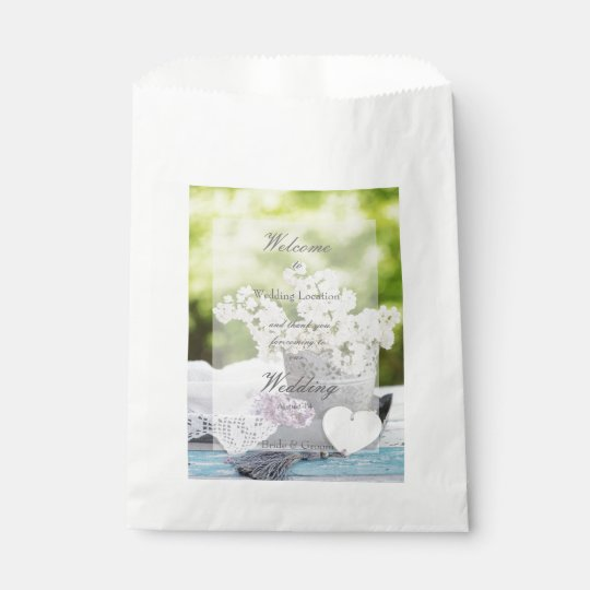 Romantic Spring Flower Floral  Lilac Wedding Favour Bags