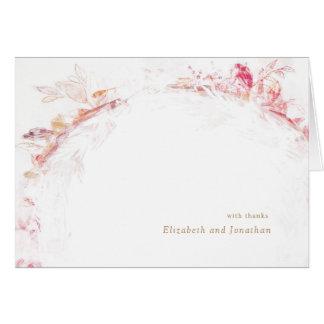 Romantic Spring Pink Flower Wedding Thank You Card