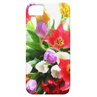 Romantic Spring Tulip Flowers Pattern iPhone 5 Covers