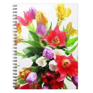 Romantic Spring Tulips Flowers Notebook