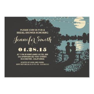 romantic string lights outdoor bridal shower 13 cm x 18 cm invitation card