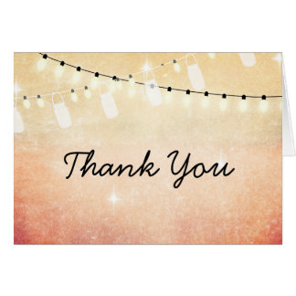 Romantic String of Lights Thank You Note Card