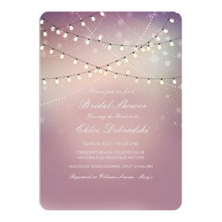 Romantic Strung Lights Bridal Shower Invitation