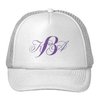 romantic summer lilac ombre purple monograms trucker hat