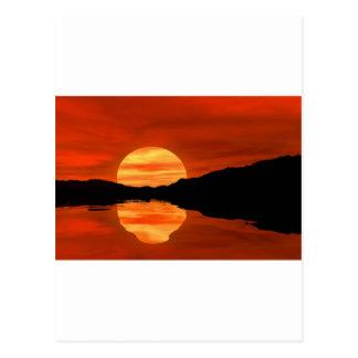 Romantic sunset postcard