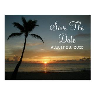 Romantic Sunset Save the Date Wedding Card Postcard