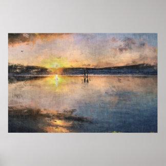 Romantic Sunset Stroll Poster