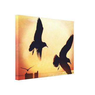 Romantic Sunshine Birds Leaves Modern Wall Art