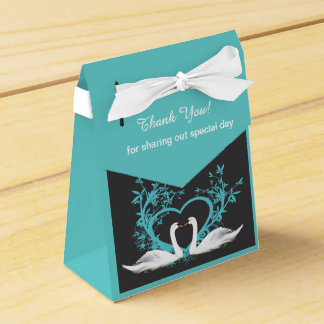 Romantic Swans Custom Tent Favor Box