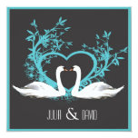Romantic Swans Wedding Invitation