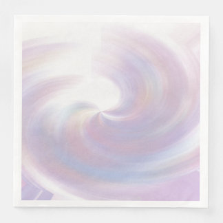 romantic swirl disposable serviette