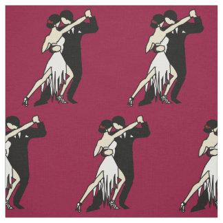 Romantic Tango Dancers Fabric