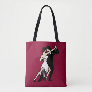 Romantic Tango Dancers Tote Bag