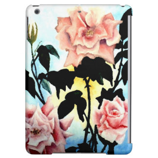 Romantic Tea Roses Flower Garden iPad Case