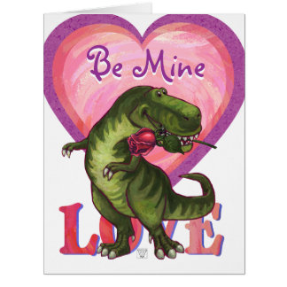 Romantic TRex Be Mine Big Card