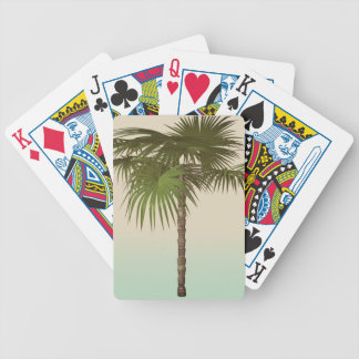 Romantic Tropical Palm Tree Bicycle Playing Cards