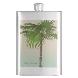 Romantic Tropical Palm Tree -Personalized Flask