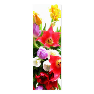 Romantic Tulips Pack Of Skinny Business Cards