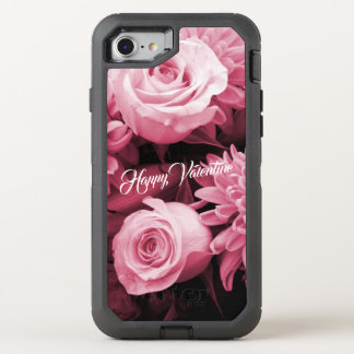 Romantic Valentines Day Antique Pink Roses OtterBox Defender iPhone 8/7 Case
