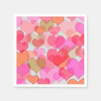 Romantic Valentine's Day Love Valentine Sweetheart Disposable Serviette